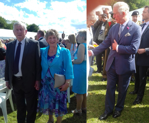 Clogher DP at garden party and Prince Charles