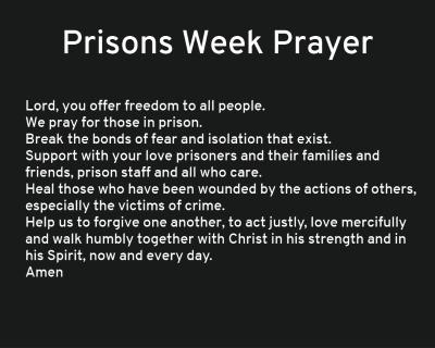 Prisons Week Prayer for Homepage