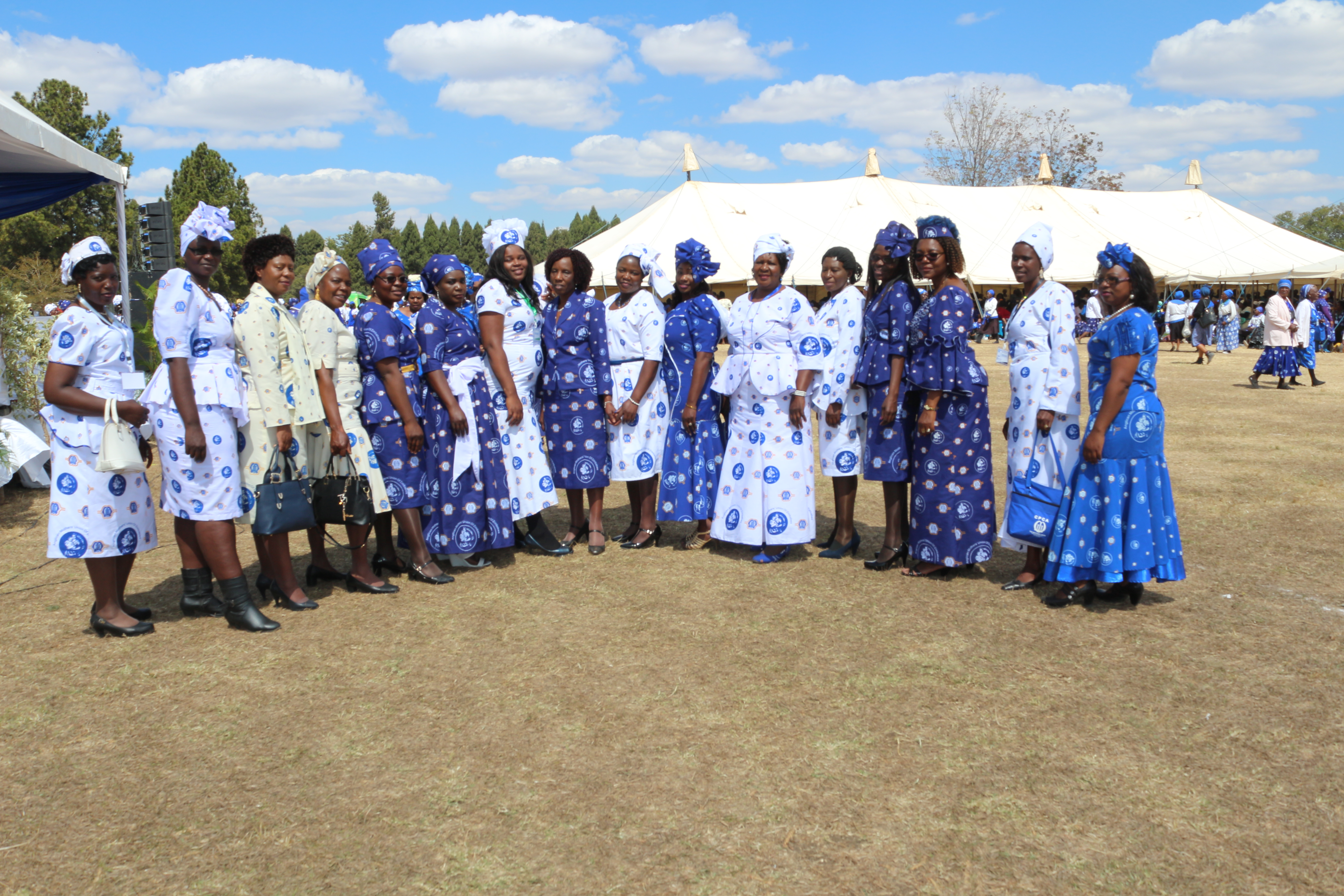 Members in Zimbabwe taking part in fashion show