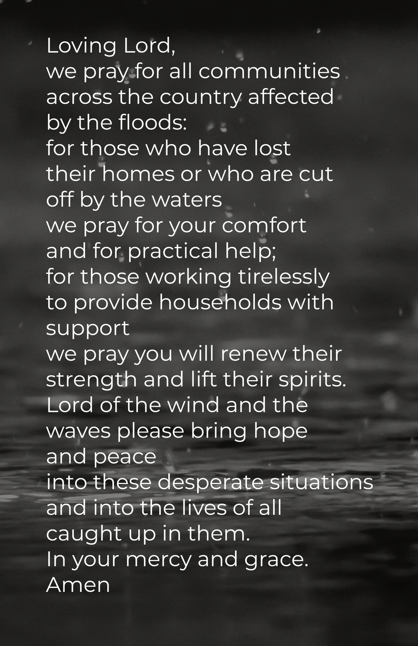 Prayer for Flooded UK Communities