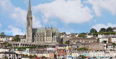 Church and skyline of Irish Town